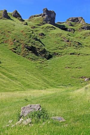 Winnats Pass near Castleton in Derbyshire.